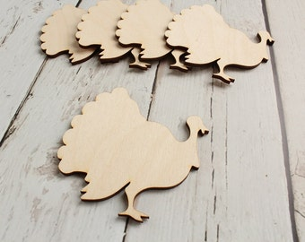 Turkey Cutout | Wood Turkey Shape | Thanksgiving Decor | Thanksgiving Wreath Supplies