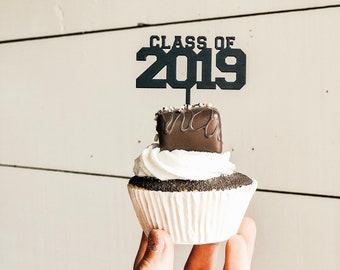 Class of 2019 Cupcake Toppers   Graduation Cupcake Topper   Graduation Party   2019 Graduation
