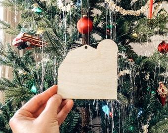 Barn Silhouette Ornament | Christmas Ornament | Barn Wedding Favor