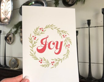Joy Christmas Card | Greeting Card | Simple Christmas Card