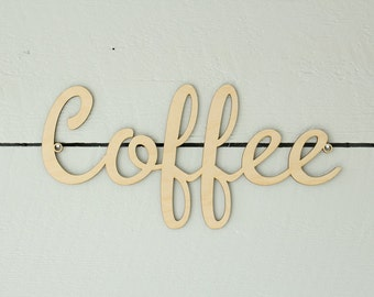 Coffee Sign | Wood Coffee Sign | Coffee Station | Farmhouse Decor