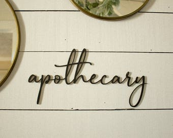 Apothecary Sign | Gallery Wall Sign | Farmhouse Gallery Wall | Farmhouse Bathroom Sign