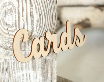 Cards Sign | Card Box Sign | Rustic Wedding Card Box | Wood Cards Sign
