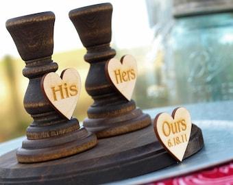 Rustic Unity Candle Holder Set | Wood Candlestick Unity Candle Holder | Rustic Wedding