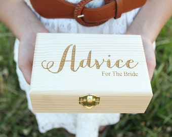Advice For The Bride Box | Laser Engraved Box | Advice Box | Bridal Shower Advice Box
