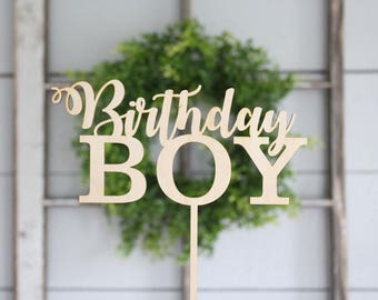 Birthday Boy Cake Topper