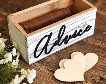 Advice Box | Rustic Advice Box | Advice For The Bride Box | Bridal Shower Advice Box | Advice For The Couple | Farmhouse Wedding