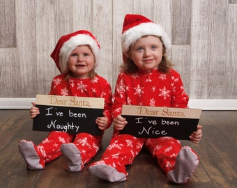 Dear Santa Chalkboard Sign | Christmas Photo Prop Sign