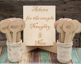 Advice For The Couple Bridal Shower Game | Advice For The Bride Wedding Game | Rustic Bridal Shower | Naughty and Nice Game | Wedding Game