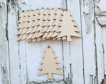 Christmas Tree Ornaments | Wood Christmas Tree Ornaments | DIY Christmas Tree Ornament