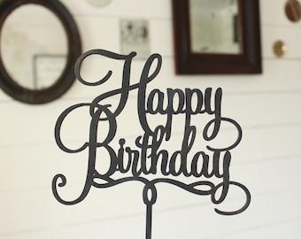 Happy Birthday Cake Topper   Free Shipping