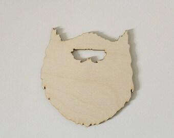 Beard Cutouts | Wood Beard Cutout | Bead Shape Wood Cutout