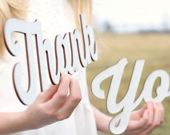 Rustic Chic Thank You Sign | Thank You Signs | Wedding Thank You Photoprop Sign