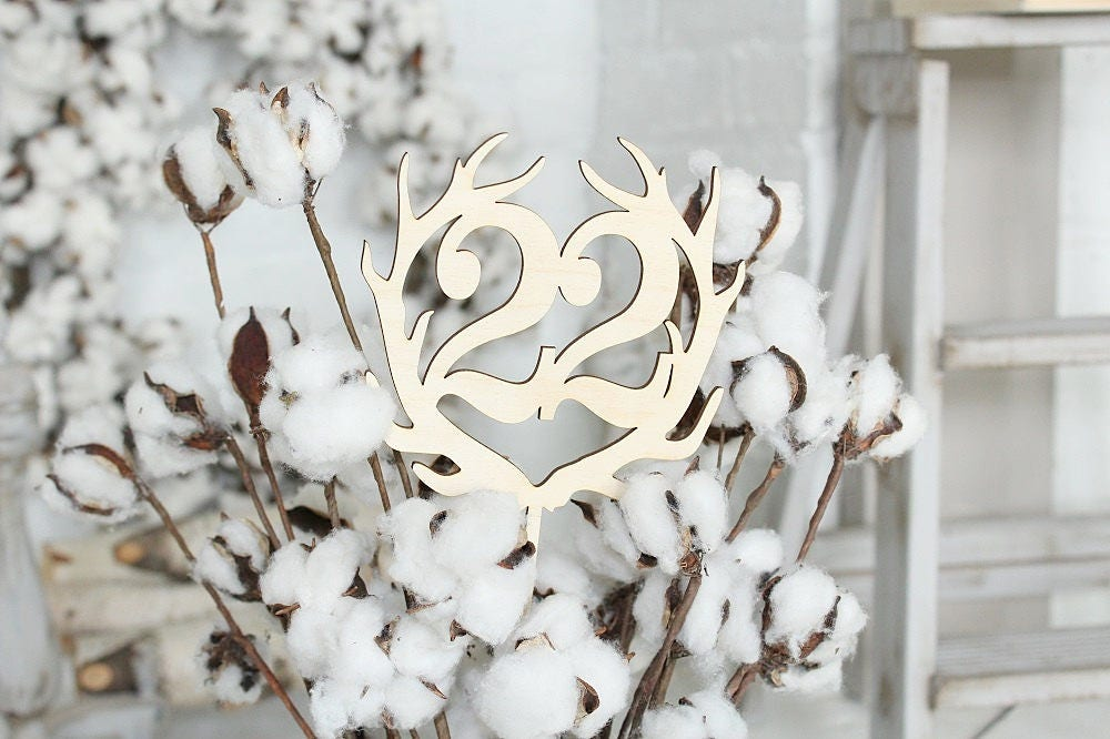Antler Wedding Table Numbers | Country Wedding | Centerpiece ...