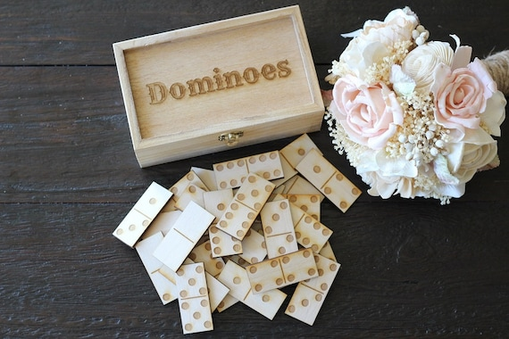K'Mich Weddings - wedding planning - guest book ideas - dominoes - down in the boondocks