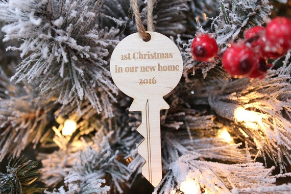 First Christmas In Our New Home 2019.First Christmas In Our New Home Key Ornament Farmhouse Christmas Rustic Christmas Tree Ornament 2019