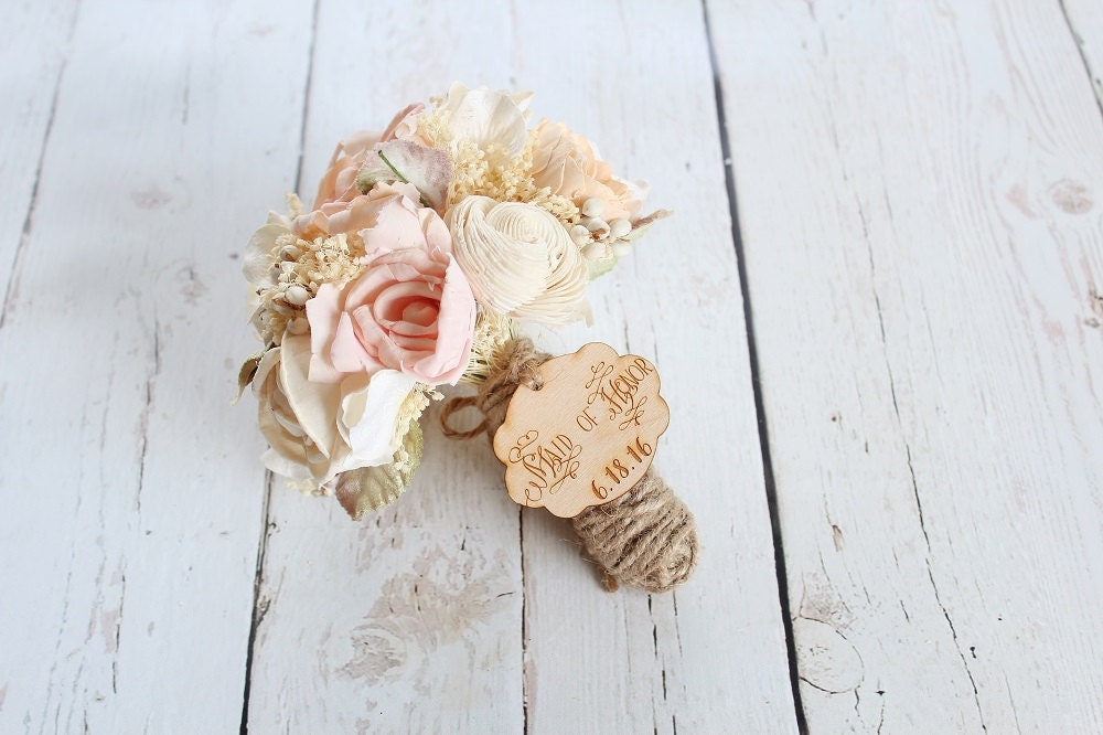 Wedding Bouquet Charm Rustic Wedding Bouquet Charm Bride Bouquet