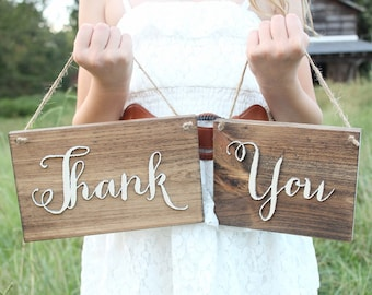 Rustic Wedding Thank You Sign Wood Thank You Plaque Thank You Table Sign Barn Wedding Sign #DownInTheBoondocks