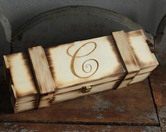 Wine Box Engraved Wine Box Custom Wine Box Wedding Wine Box Rustic Wine Box