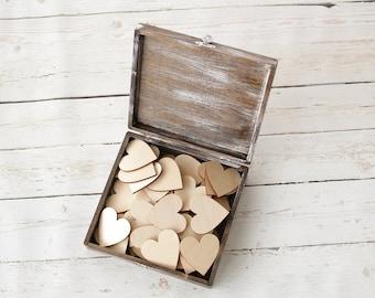 Rustic Keepsake Box Advice Box Well Wishes Box Rustic Bridal Shower Rustic Wedding Cigar Box
