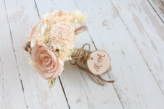 Bouquet Charm Rustic Wood Engraved Wedding Bouquet Charm Maple Wood Slice Charm #DownInTheBoondocks