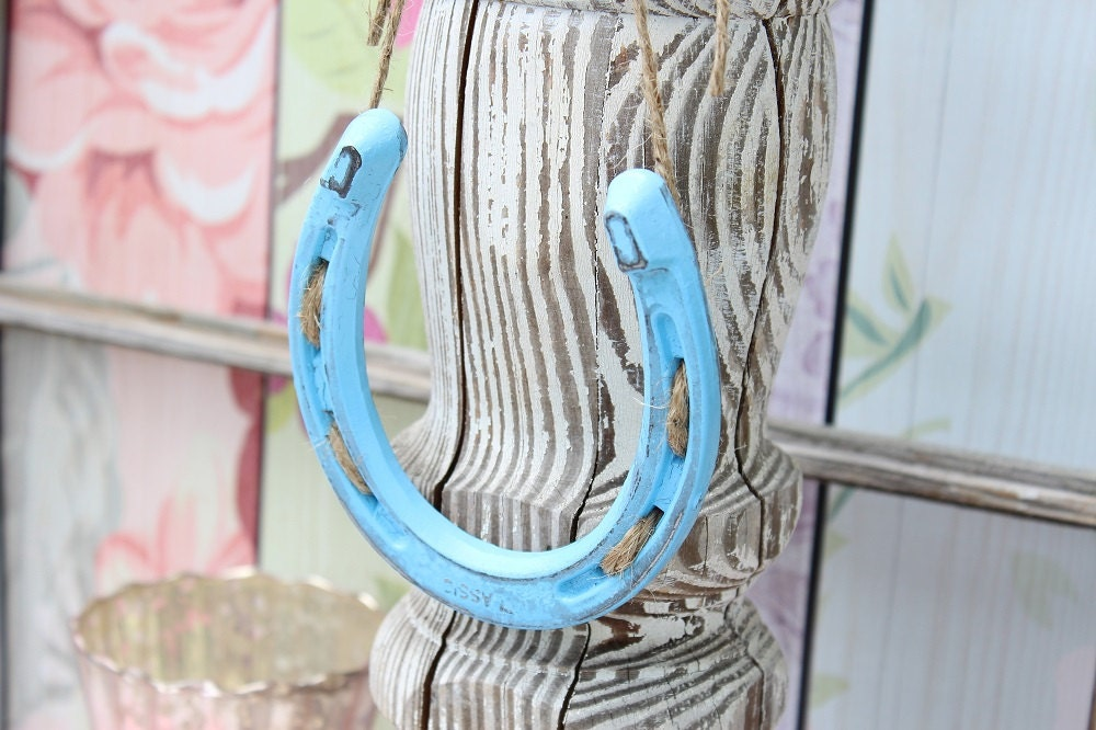 Something Blue Wedding Gift Baby Boy Nursery Decor Horseshoe Decor