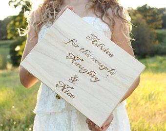 Advice For The Couple Naughty and Nice Box Advice Box Bridal Shower Wedding Game