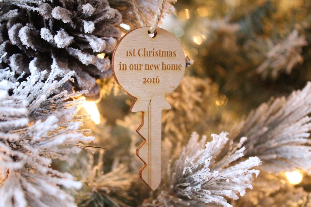 First Christmas In Our New Home 2019.First Christmas In Our New Home Key Ornament Farmhouse