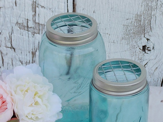 mason jar wedding decorations mason jar flower frog lids reception