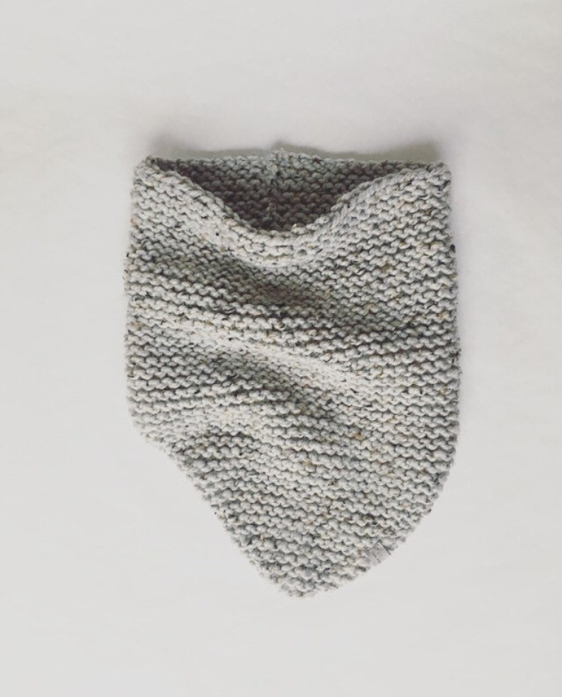 BLANKET SCARF: Bridesmaid Gift Neck Warmer Knit Cowl image 0