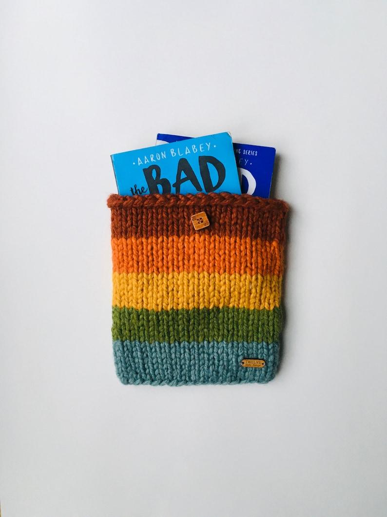KNITTING PATTERN: Book Sleeve iPad Sleeve Book Sleeve Cover image 0