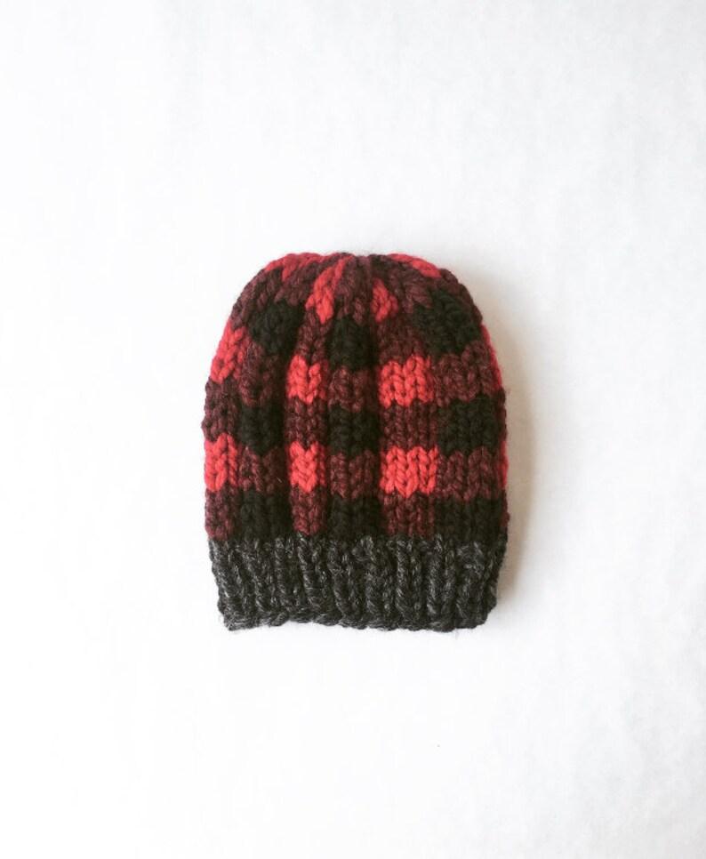 P E M B E R T O N : Plaid Hat Lumberjack Beanie Winter Hat image 0