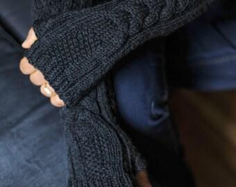 Fingerless, Fingerless Gloves, Fingerless Mittens, Fingerless Mitts, Knit Gloves, Elbow Length Gloves, Knit Fingerless Gloves, Gift For Her