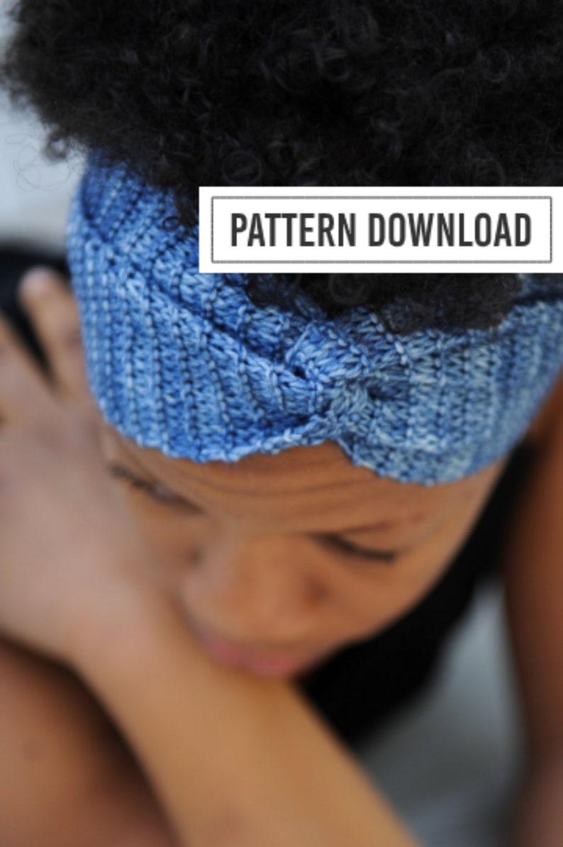 KNITTING PATTERN: Yoga Gifts Headband Yoga Headband image 0