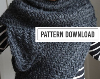 K N I T T I N G  P A T T E R N // Knit Cowl Pattern // The Archer's Poncho // The Huntress Cowl // Knit Cowl