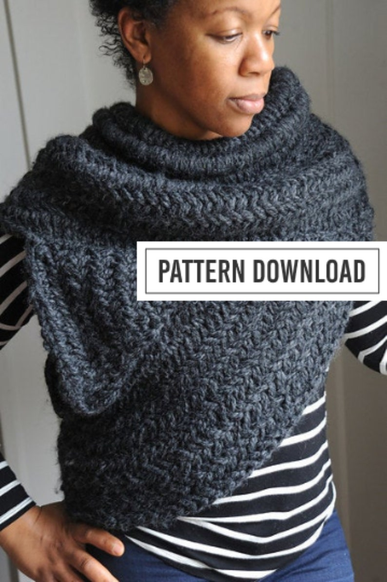 K N I T T I N G // P A T T E R N // Knit Cowl Pattern // The image 0