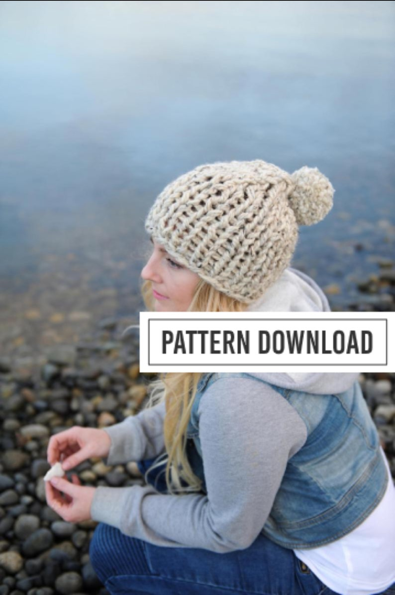 KNITTING PATTERN // Chunky Toque Chunky Beanie Knit Toque image 0