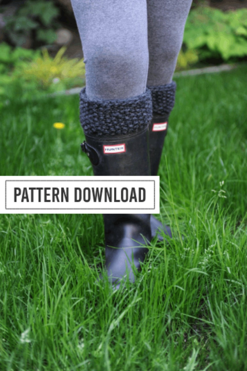 KNITTING PATTERN: Boot Cuffs Boot Cuff Boot Toppers Boot image 0