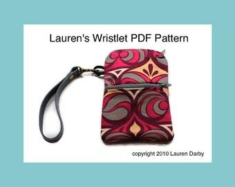 PDF Wristlet Pattern Bag Tutorial Zipper Wristlet Two Pocket Bag Pattern