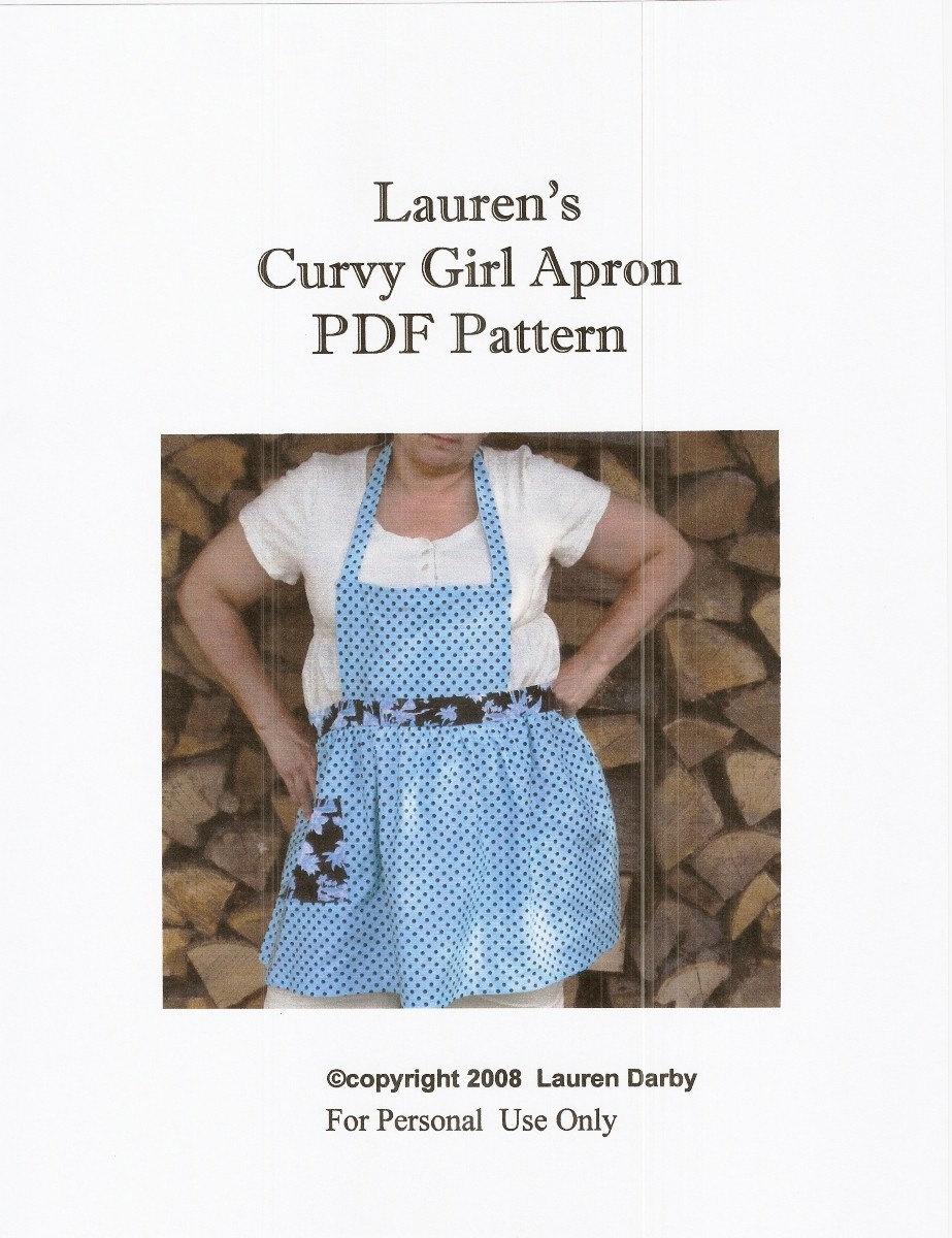 Pdf Pattern Tutorial Hand Embroidery Stitch My Garden 002: Curvy Girl Apron PDF Pattern Tutorial