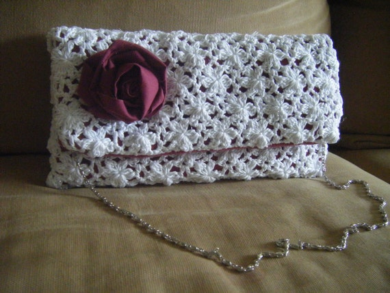 Clutch Lace Envelope Oversize Purse Crochet Pattern Etsy