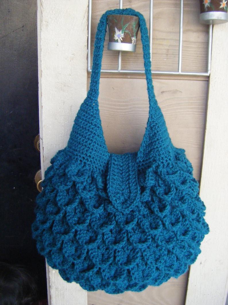 INSTANT DOWNLOAD Crochet Crocodile Bag Pattern  40e5c4d6ee082