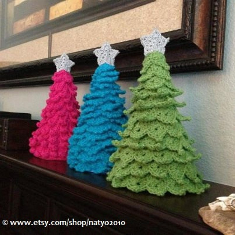 Instant Download 3 Crochet Christmas Tree Decoration 3 Etsy