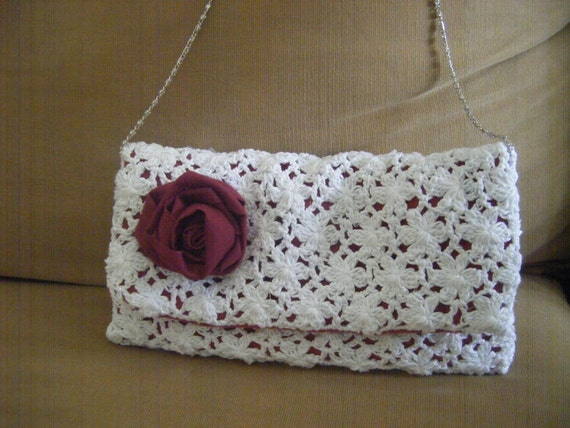 Clutch Lace Envelope Oversize Purse Crochet Pattern Etsy