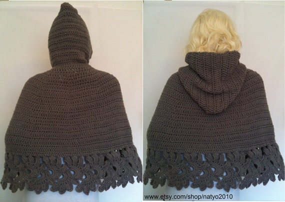 Instant Download Crochet Hooded Cape Pattern Pdf Unic Size