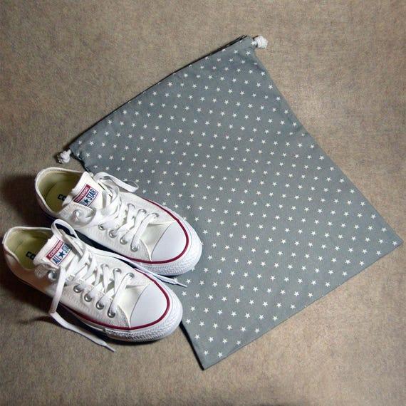 Sac à chaussures gris Mini étoile couleur voyage