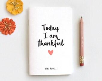 Graduation Gift Gratitude Journal, Notebook Journal & Pencil - Today I am Thankful Gift, Midori Insert Travelers Journal, Stocking Stuffer