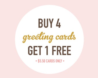 Anniversary Cards, Recycled Cards - Choose Any 5 for the Price of 4 - Christmas Cards, Holiday Cards, Birthday Cards, Etc.