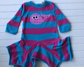 Organic Whale knit dress 12-18 mo