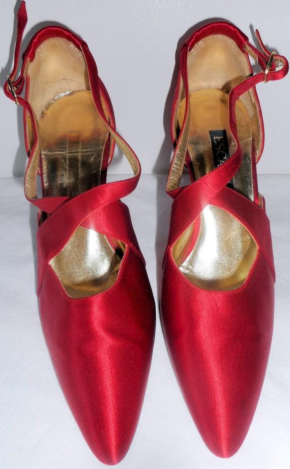 ESCADA Vintage 1990s Shoes Pumps Heels 6.5 36.5 L… - image 3